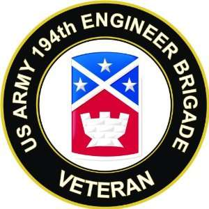 US Army Veteran 194th Engineer Brigade Decal Sticker 3.8