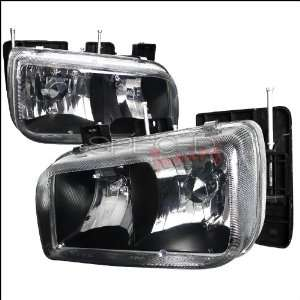 Cadillac Escalade 1999 2000 Euro Headlights   Black