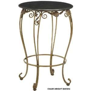 Allegra Bar height Pub Table Black Marble Antique