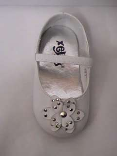 Baby Girl White Ballet Flat w/Flower (53) INFANT size 3