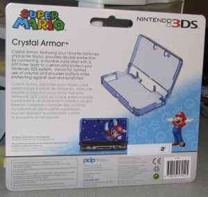 Nintendo 3DS Super Mario Crystal Armor Game Case Blue Brand New