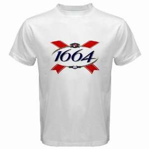 Kronenbourg French Beer Logo New White T Shirt Size  M