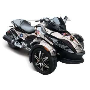 Racing Fits Can Am BRP Spyder Graphic Decal Wrap Kit   Tbomber Black