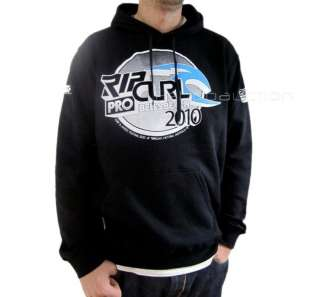 Rip Curl Bells Pro L Mens Black Fleece Hoodie Jumper