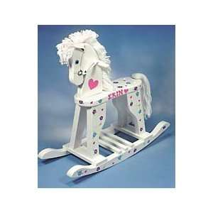 Personalized Large Wooden Rocking Horse Toys & Games