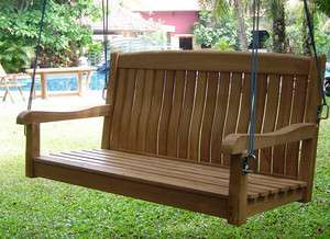Noved Grade A Teak Wood 4 Feet Swing Chair Bench Outdoor Garden