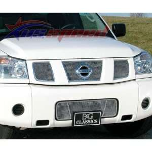 2004 2007 Nissan Armada Titan Polished Wire Mesh Grille