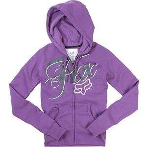 Fox Racing Womens White Lightning Zip Up Hoody   Small