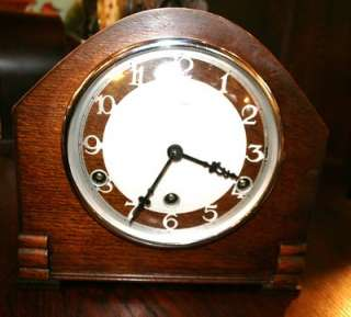 English Antique Art Deco Bentima Mantel Clock Westminster Chime