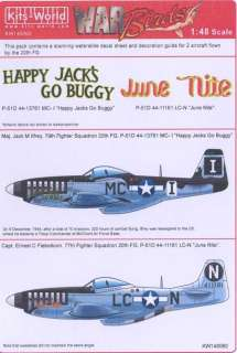Kits World Decals 1/48 P 51D MUSTANG 20th Fighter Group