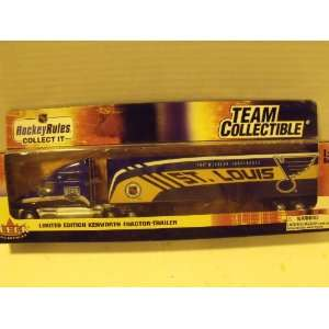 NHL 180 Scale St. Louis Blues Kenworth Tractor Trailer Toys & Games