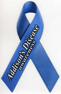 Addisons Disease Awareness Ribbon Magnet. These realistic ribbon