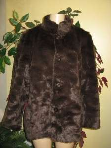 creek womens reversible faux suede to fur jacket plus size 20W, 1X 2X