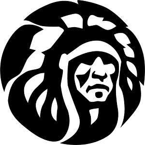 Cherokee Warrior Chief Decal /Sticker  You Pick Color