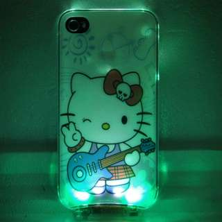 Flash Light LED iphone Case Cover for Apple iPhone 4 4S 4G LED LCD