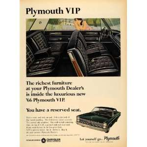 Chrysler Motors Corp VIP Car   Original Print Ad