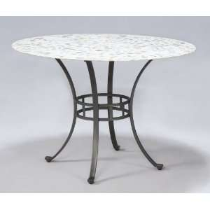 POWELL   Starmount Inlaid Stone Top Dining Table (ships in