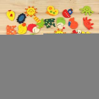 Cartoon Baby Toy Refrigerator Wooden Magnets 1pcs