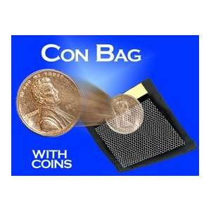 Con Bag w/ Coins Zanadu Money Magic Trick Jumbo Vanish