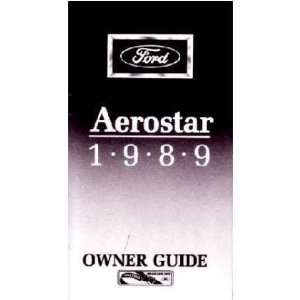 1989 FORD AEROSTAR VAN Owners Manual User Guide