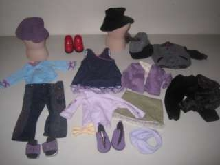 Huge Lot American Girl 18 Our Generation Doll Clothes Horse Carriage