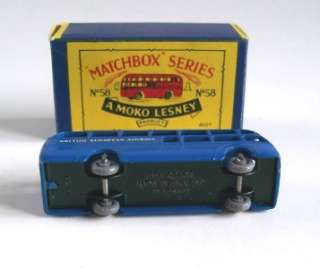 MATCHBOX MOKO LESNEY 58 B.E.A. AIRPORT COACH,1956, MIB