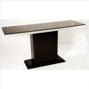 Monique Dining Table With Black Glass
