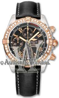 NEW BREITLING CHRONOMAT EVOLUTION ROSE GOLD & DIAMONDS MENS WATCH
