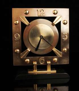 FRENCH ART DECO MACHINE AGE 8 DAYS BAYARD CLOCK BRONZE BRASS MISTERY