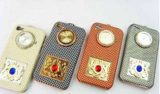 Fashion Designer Case hard Back For iPhone 4 With Watch