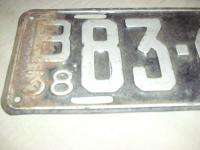1938 Minnesota License Plate #B83 665 Dodge Chevy Ford