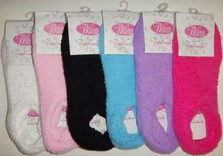 Womens Warm n Soft Fuzzy Winter Home Slipper Socks   Non Slip   Grip
