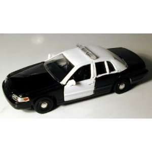 43 Black & White Ford Crown Victoria Police Car Toys & Games