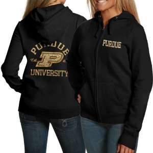 Purdue Boilermakers Ladies Black Victoria Full Zip Hoodie