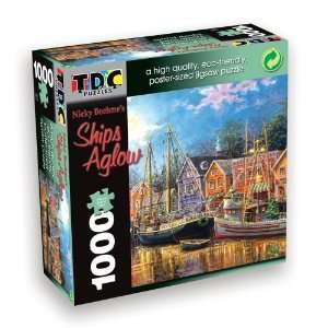 TDC Games Eco Friendly Puzzle   Ships Aglow Toys & Games