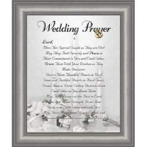 com Wedding Marriage Anniversary Prayer Satin Silver Frame 9.5 X 11