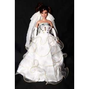 Elegant White Ball Gown Featuring Lace Butterfly and