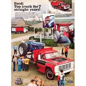 1976 Ad Ford Truck Pickup Automobile Vehicle Retriever Cab