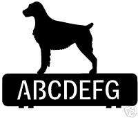 custom BRITTANY dog metal house mailbox topper sign art