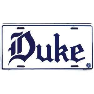 (6x12) Duke University NCAA Tin License Plate
