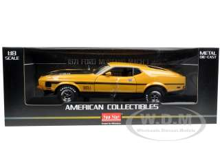 car of 1971 Ford Mustang Mach 1 Medium Yellow Gold die cast model car