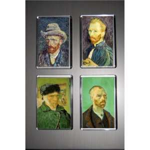 Gift Boxed Set of 4 Art Fridge Magnets Van Gogh Pack 2