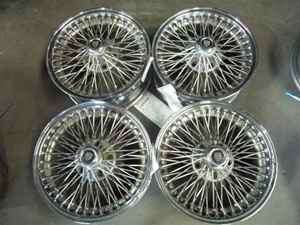Jaguar Dayton 70 Spoke Wheels Rims 16 XJ6 XJ8 XJS XK8