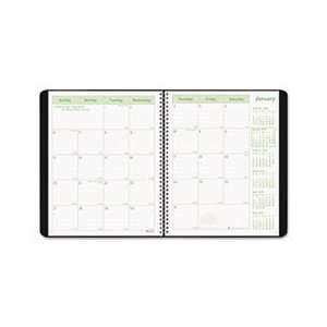 Monthly Planner, 11 x 8 1/2, Black Soft Cover, 2011