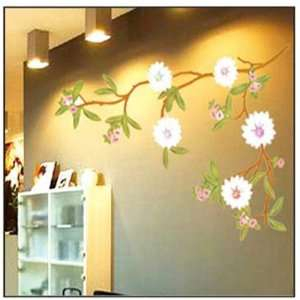 Blossming Flowers Reusable Decoration Wall Sticker Decal