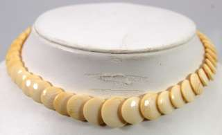 VTG Deco Celluloid 15 Choker Necklace Graduated Discs