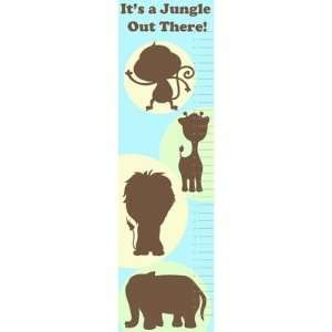 Animal Growth Chart Wall Decal Color Green