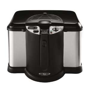 Oster CKSTDFZM70 4 Liter Cool Touch Deep Fryer, Black and Stainless
