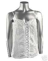 Womens Plus Size Stretch Knit Cotton Camisole Top 2X