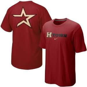 Nike Houston Astros Brick Red Local T shirt (X Large